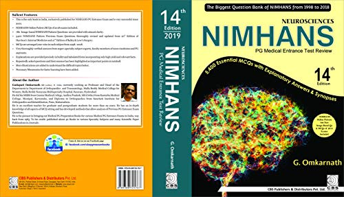NEUROSCIENCES NIMHANS PG MEDICAL ENTRANCE TEST REVIEW 14ED (PB 2019)