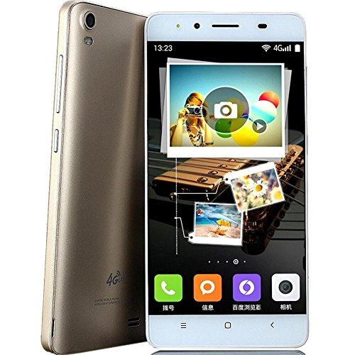 AMH-SIM Free Smartphone,Y10-M5 5 Zoll Android 4.42 Octa-Core 2G-4G LTE Smartphone Dual SIM 2GRAM + 4GROM 3.0MP Dual Kamera WiFi Bluetooth,Handy Ohne Vertrag-Roségold/Gold/Weiß (Gold)
