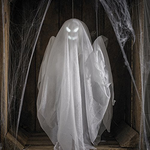 Lights4fun LED Halloween Geist Haris animiert Batteriebetrieb