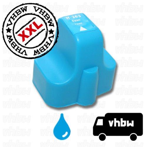 vhbw kompatible Ersatz Tintenpatrone Druckerpatrone für Drucker cyan wie HP 02, 363, C8771EE (Tintenpatrone Cyan 02)