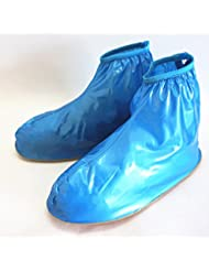 Oriskey 1Paar Regenüberschuhe Wasserdicht Schuhe Abdeckung Stiefel Flache Regen Überschuhe Regenkombi Schuhüberzieher Rutschfestem für Damen Mädchen Herren Jungen