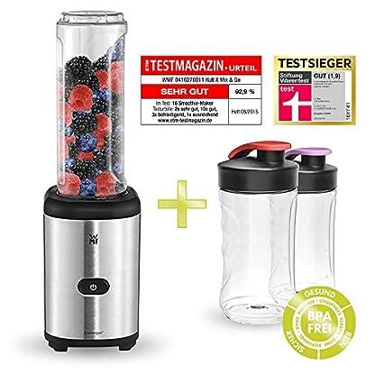 Kult-X-MiX-Go-Set-WMF-Kult-Mix-Go-Testsieger-Mini-Standmixer-Leistung-300-W-Sparset-BPA-frei-Smoothie-Maker-Cromargan-mattSilber-Kunststoff-600-milliliters