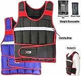 Gewichtsweste 10,15,20kg Gewicht Verlust Training Running verstellbar Jacke abnehmbarer Gewicht Crossfit Gewicht Verlust Trainings Body Schwarz / Rot 10 kg