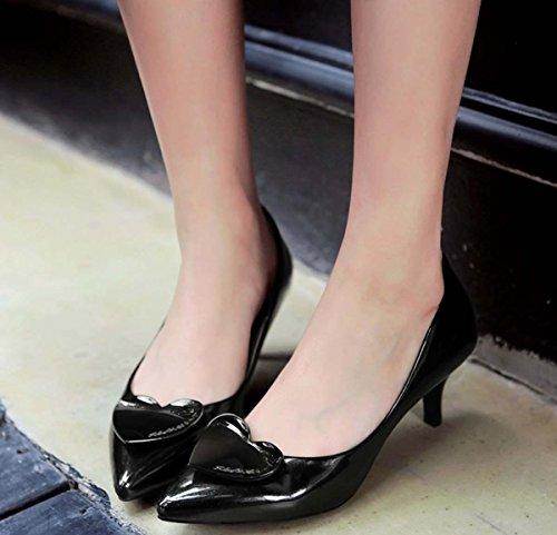Scarpe Da Nudo Scarpe Basse In Bocca Bassa Shallow Boots In Pelle Scarpe Da Brevetto Scarpe Singole Scarpe Casual Scarpe Black