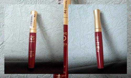 Glänzend Lip Lipgloss Effekt 3D Bourjois N ° 44Zimt UNIC NEU - Bourjois Effekt