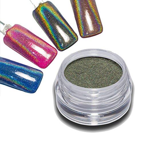 Effet Chrome hologramme Pigment poudre Ultra Fin paillettes brillant Nail Art Design Unicorn Holo RM Beautynails