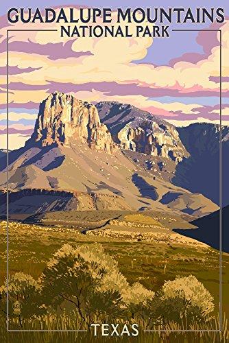 Guadalupe-Mountains National Park, Texas, Papier, mehrfarbig, 12 x 18 Art Print