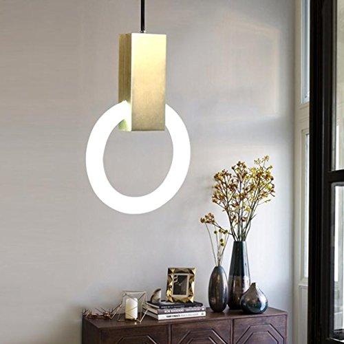 Bronze-kronleuchter 21-licht (@Leuchter Treppenhaus Ring Lichter Lampen Moderne Eisen Kronleuchter Nordic Villa Wohnzimmer Esszimmer Licht Innenbeleuchtung (größe : 21cm))