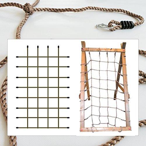 Kletternetz für Rahmen 200 x 125 cm von Gartenpirat®