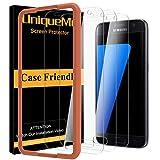 UniqueMe [3 Pack] Protector de Pantalla para Samsung Galaxy S7, Vidrio Templado [ 9H Dureza ] [Sin Burbujas] HD Film Cristal Templado para Samsung Galaxy S7 con Garantía de Reemplazo de por Vida