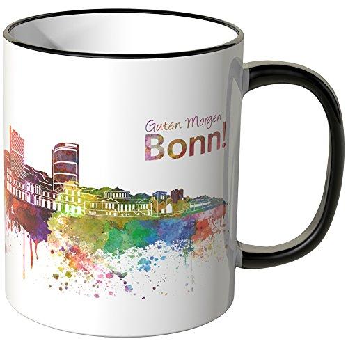 """Wandkings® Tasse, Schriftzug """"Guten Morgen Bonn!"""" mit Skyline - SCHWARZ"""
