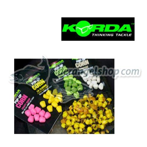 Korda Fake Pop-up Corn (12 Stück), künstlicher Mais, Karpfenköder, Angelköder zum Karpfenangeln, Farbe:weiß