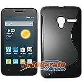 Funda Gel TPU Sline Alcatel One Touch Pixi 3 4 pulgadas NEGRA