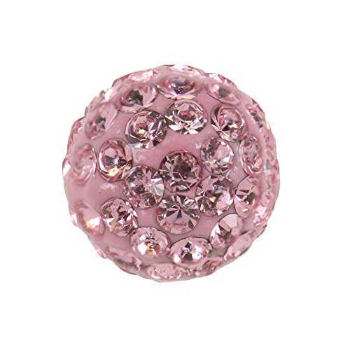 Studex Sensitive Regular 6mm Light Rose Kristall Feuerball Ohrstecker Edelstahl Ohrringe