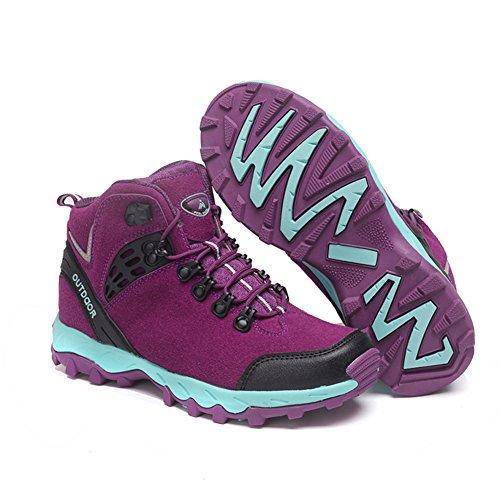 Fexkean Scarpe da Trekking Escursionismo Hiking Ginnastica Sneakers Sportive da donna Uomo Nero Grigio Blu Verde Rosa Viola