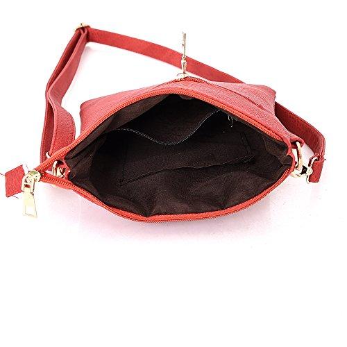Kukubird Joan Crossbody Bag borsa Casual tutti i giorni con sacchetto raccoglipolvere Kukubird Pink