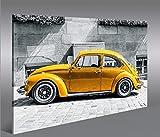 islandburner Bild Bilder auf Leinwand Käfer Kult Auto Beetle 1p XXL Poster Leinwandbild Wandbild Dekoartikel Wohnzimmer Marke