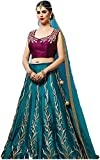Sai creation Womens All Festival To Design Womens Taffeta Silk Lehenga And Banglory Silk Blouse Heavy Embrodary Work Lehenga Choli (Style_lehengha_Z58_blue Color _Free Size)