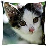Hearsbeauty Kissenbezug mit Katzenmotiv, Baumwolle, Leinen, für Autositz, Sofakissen 1#