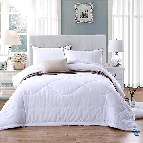 Invierno techo extra de invierno cálidos de cama edredón de cama edredón plumas Soft Touch, 150x 200cm, 200x 200cm, 220x 240cm, poliéster, azul, 200 x 200 cm