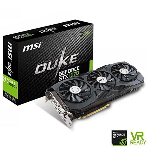 MSI GTX 1080 Ti Duke 11G OC Carte Graphique Nvidia GeForce GTX 1080 Ti 1645MHz 11 Go
