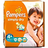 Pampers Simply Maxi Plus de 9-20Kg sec Taille (34) - Paquet de 6