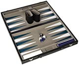Gibsons -Backgammon - Etui Cuir Simili - 37cm  - Langue: anglais
