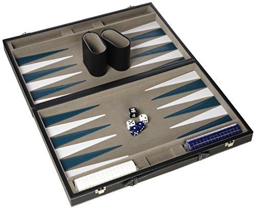 Gibsons G388 - Backgammon en caja de piel sintética (38 cm)