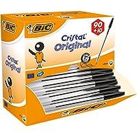 BIC Cristal Original Ballpoint Pens Black 90+10 Box