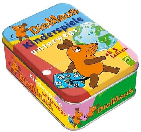 Die Maus. Kinderspiele unterwegs (ab 5 Jahren) Metallbox mit 50 Activity-Karten