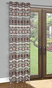140x245 cm beige hellbraun transparent Vorhang Vorhänge Fensterdekoration Gardine Ösenschal beige light brown ALAN