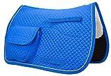 Derby Originals Horse English Allzweck-Sattelpolster mit Taschen (Brillantblau)