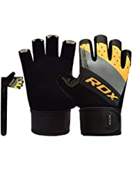 RDX Gym Weight Lifting Gloves Competition Workout Fitness Bodybuilding Crossfit Breathable Powerlifting Exercise Wrist Support Strength Training