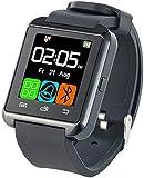 Callstel Smart Uhr: Freisprech-Smartwatch SW-100.tch mit Bluetooth 3.0 + EDR (Smartwatch zum Telefonieren)