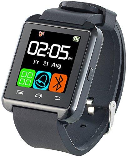 Callstel Armbanduhr: Freisprech-Smartwatch SW-100.tch mit Bluetooth 3.0 + EDR (Smartuhren)