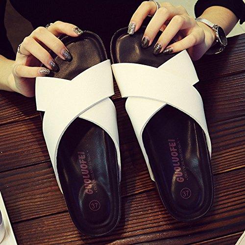 ZHANGRONG- ChaussonsChaussures Confort pour Couleur Blanc Noir ( Couleur : A , taille : 37 ) D