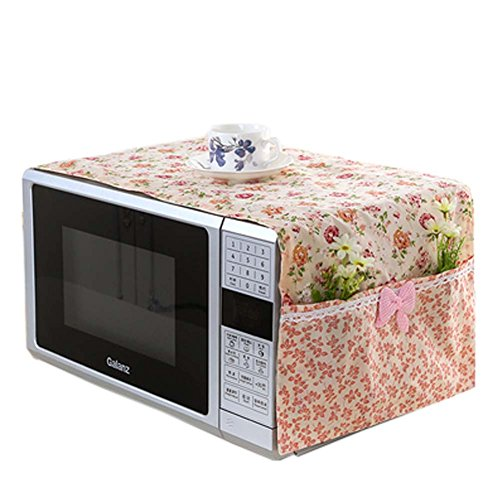 floral-microwave-oven-accessory-protective-cover-dust-proof-covers-a