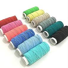 Generic 12 x colorful Round Shirring Elastic Craft 20 Metres Spools AA7640