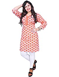 Thari Choice Designer Printed Party Wear Cotton Combo Kurti For Women (Ready Made Kurti)