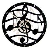 Euphyllia musique Musical-Horloge murale-Noir - 28 cm (e9515blk)