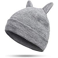 ea4ae06fd6f13 HAOLIEQUAN Sombreros De Invierno Sombrero De Punto Orejas Calientes Gato  Chica Moda para Mujer Sombrero De