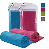 FIRSTBUY Cooling Towel for Instant Relief, Chilling Neck Wrap,Ice Cool Snap Towel, Microfiber