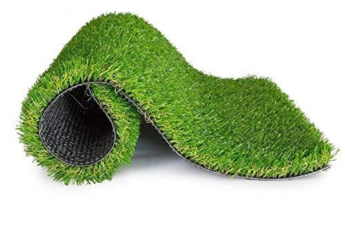 LOWRENCE Plastic Arificial Grass for Balcony or Doormat (1.5x2ft, Green)