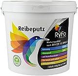 RyFo Colors Reibeputz 3mm 25kg - Profi-Außenputz, Rillenputz, Strukturputz, Fertigputz, extrem witterungsbeständig, abtönbar, zertifiziert