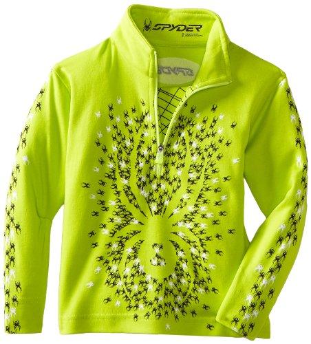 Spyder Boy 's Mini Bugs Auf Bugs Baumwolle T Hals Shirt, Jungen, Sharp Lime (Skibekleidung Spyder Kinder Für)