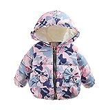 Sunenjoy Bébé Filles Manteau Camouflage Automne Hiver Hooded Manteau Manteau Veste Épais Chaud Vêtements pour Infantile 0-24 mois (0-6 mois, rose)