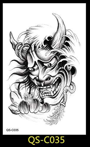 Fiore braccio tatuaggio tatuaggio temporaneo robot braccio fiore arte carpa pesce tatuaggio personalità unisex moda mezzo braccio trasferimento dell'acqua tatuaggio @ c035_12x19cm
