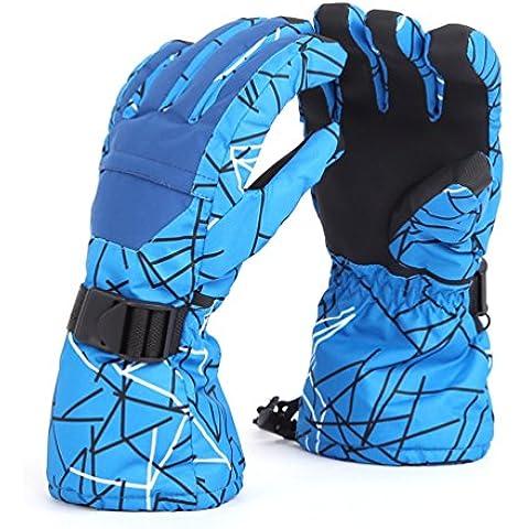 Guantes Esquí, NuoYo Impermeable Chicas de Invierno Respirant Antideslizante Guantes Protección Completa Contra Nieve Viento, Conveniente para al Aire Libre, Camping, Bicicleta, Caminata, Ski,