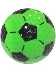Nitro Novelty Balles de golf Nitro, Fantaisie Lot de 3balles de golf–Soccer, tube, Vert/noir