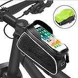 """FishOaky Borsa Telaio Bici, Impermeabile Borsa da Manubrio per Biciclette, Touch Scree Porta Telefono MTB Borsa Porta Cellulare Bici Borse Biciclette per iPhone XS/X/Samsung S9/S8 Fino a 6,5"""""""